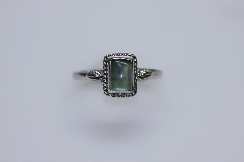 9.50 CTW CALZEDONIA RING .925 STERLING SILVER