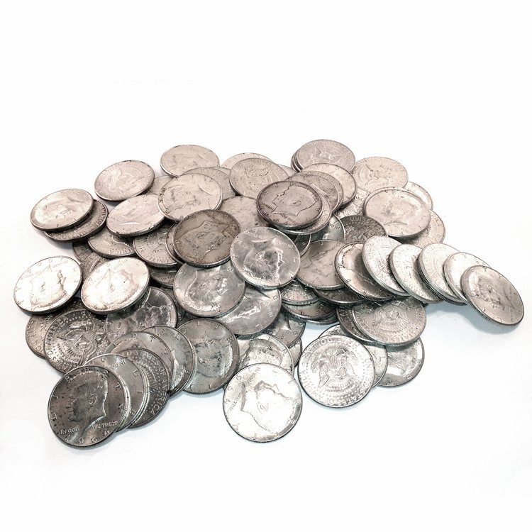 90% Silver Kennedy Halves 100 pcs.
