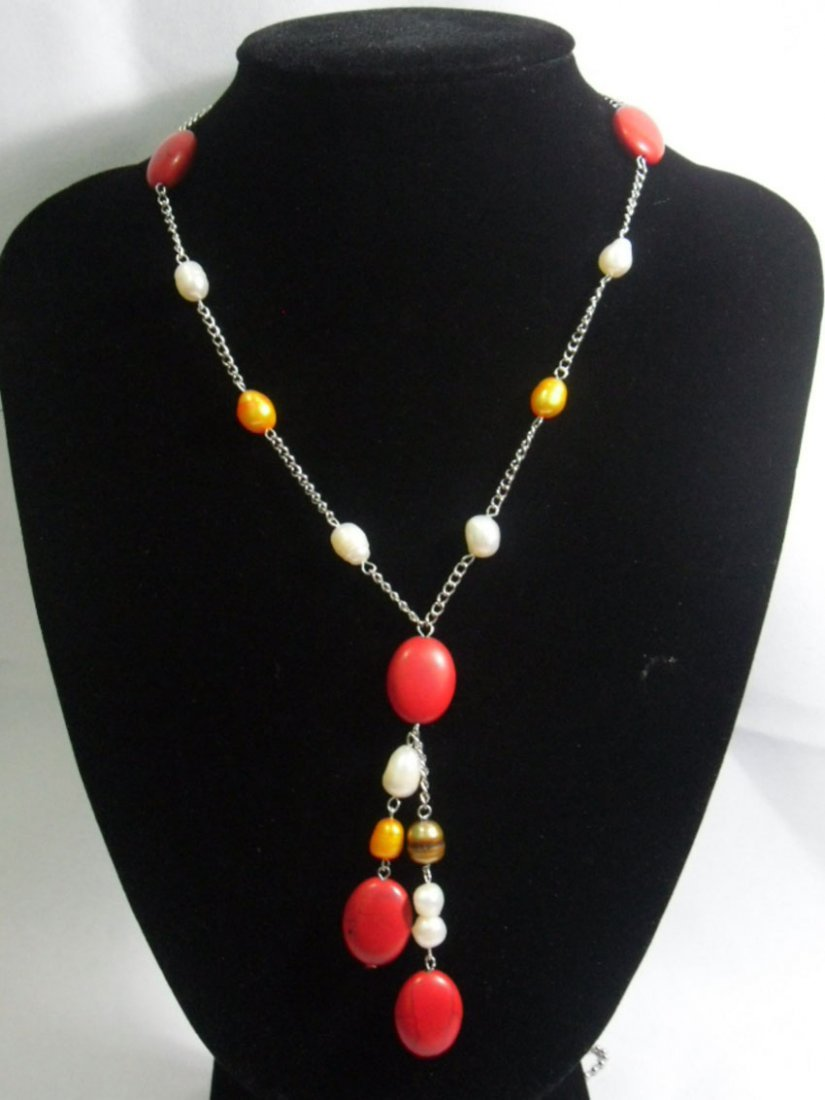 175CTW RED TURQUOISE WITH WHITE-CHAMPAGNE-BROWN