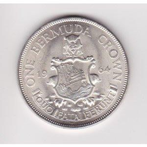 1964 Bermuda silver crown