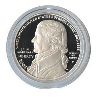 US Commemorative Dollar Proof 2005 Chief Justice John M