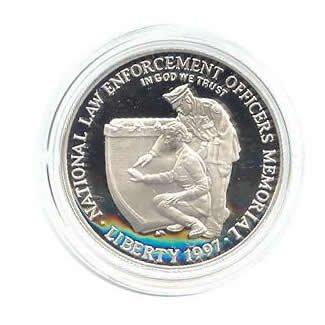 US Commemorative Dollar Proof 1997-P Law Enforcement