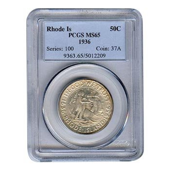 Certified Commemorative Half Dollar Rhode Island