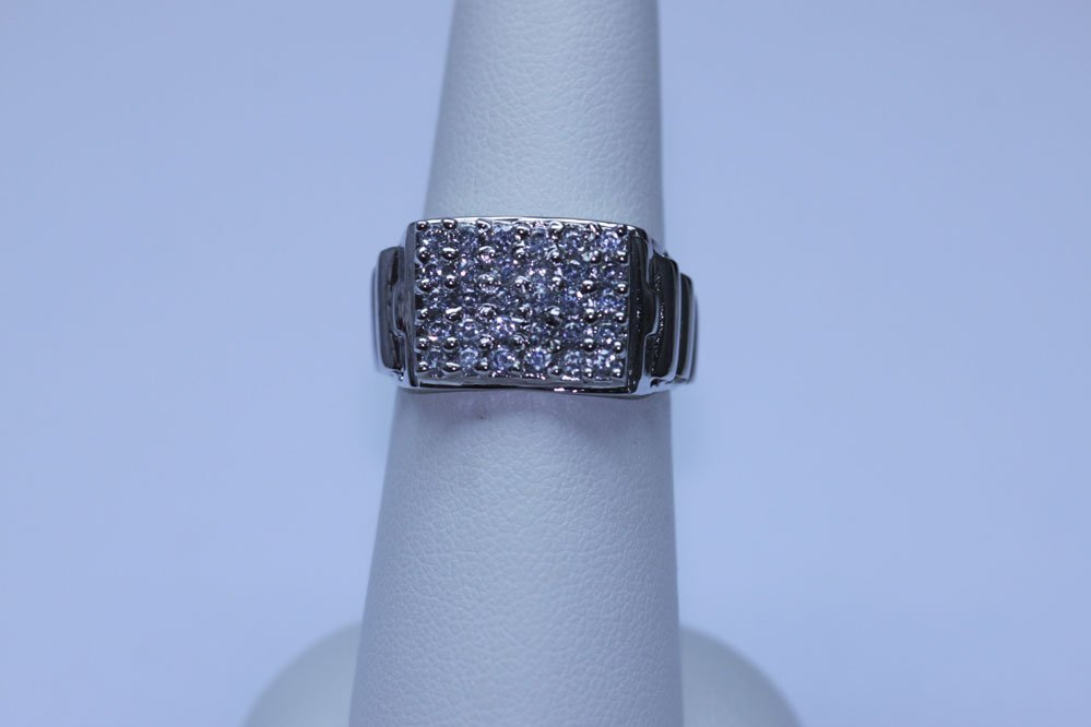 26.60 CTW CZ RING .925 STERLING SILVER