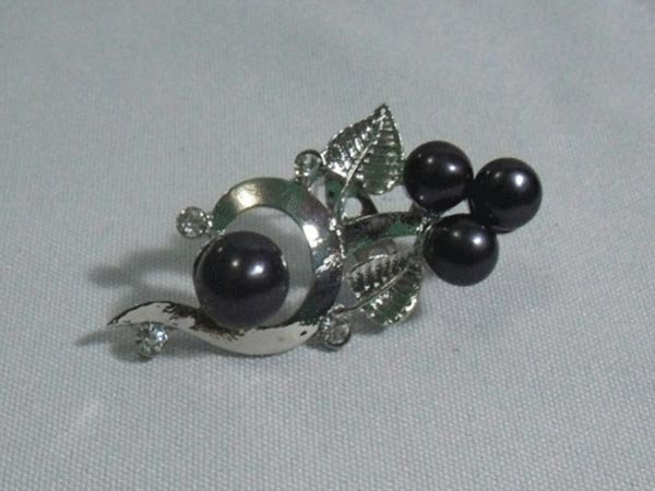 COMELYBLACKPEARL CZ BROOCH AUTHENTIC PHILIPPINE PEARL