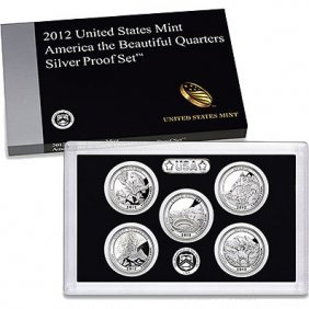 US Proof Set 2012 5pc Silver (Quarters Only) America Th
