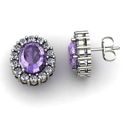 Genuine 3.24 ctw Tanzanite Diamond Earring 14k W/Y Gold