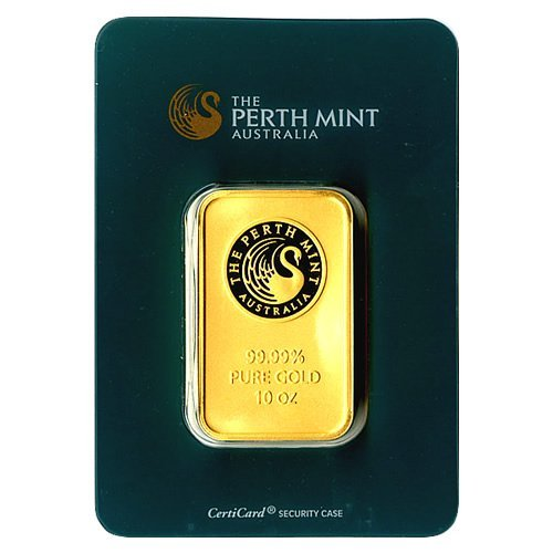 Gold Bars: Perth Mint Ten Ounce Gold Bar