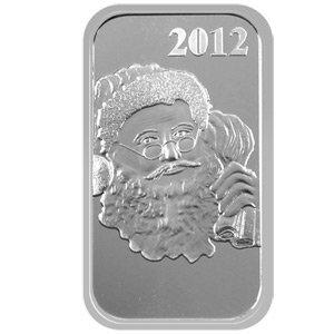 Christmas 2012 Silver Bar X-1 Santa
