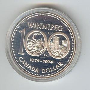 Canada 1974 silver dollar, Winnipeg