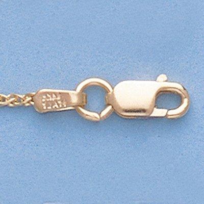 """Genuine 16"""" 14k Gold-Yellow 1.1mm Wheat Chain 3g"""
