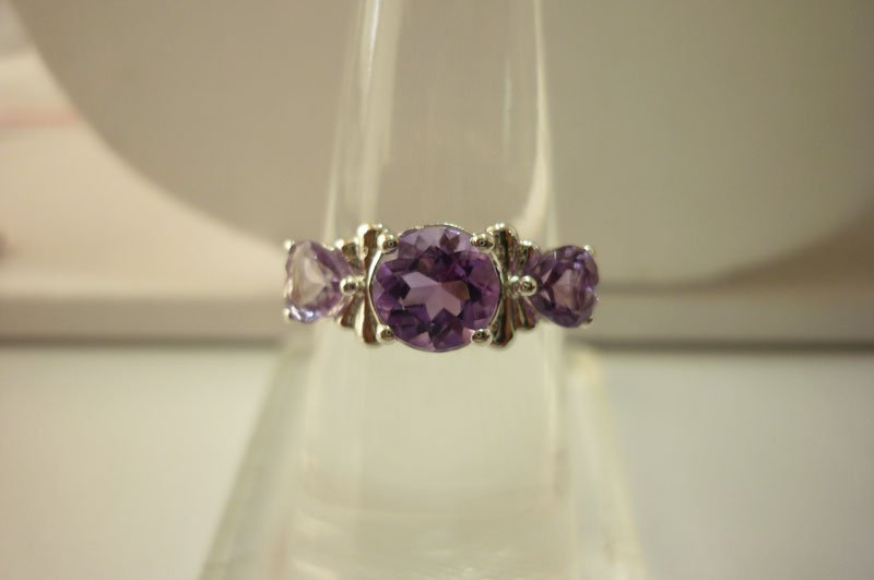 16.60 ctw Amethyst Ring .925 Sterling Silver