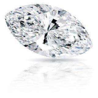 EGL CERT. MARQUISE DIAMOND 1.47 CTW G/SI2
