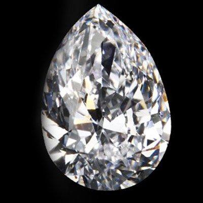 Diamond EGL Certified Pear 1.27 ctw D, SI2