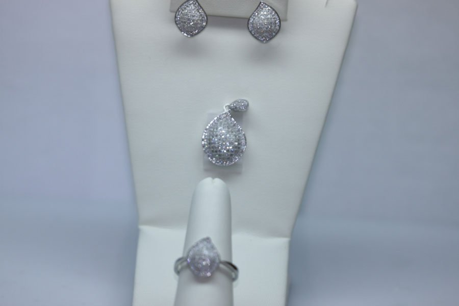 9.02 CTW CZ MICRO PAVE SETTING SET .925 STERLING SILVER