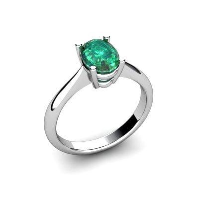 Genuine 2.60 ctw Emerald Ring 18k W/Y Gold