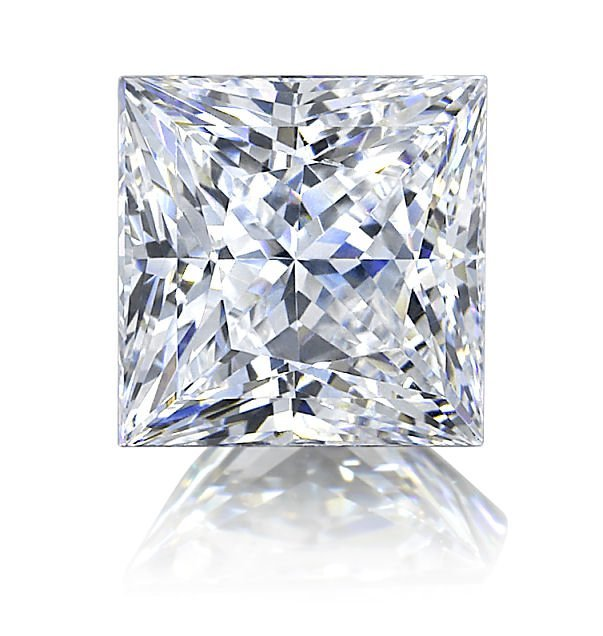 EGL CERT.PRINCESS DIAMOND 5.34 CTW H/SI2