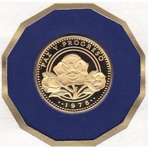 Panama 1978 100 balboa gold Proof, Peace and Progress