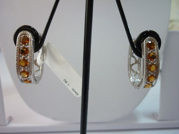 35.75 CTW CITRINE EARRING .925 STERLING SILVER