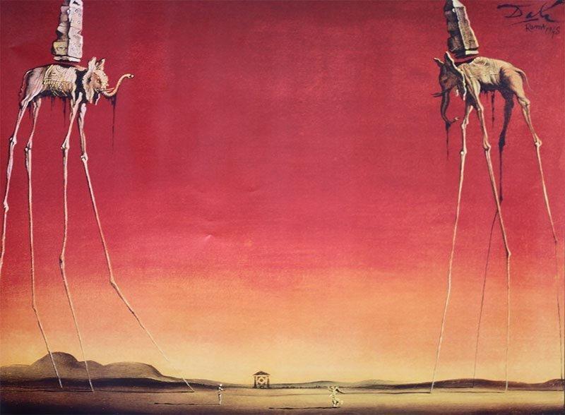 ART POSTER  Salvador  Dali's Les Elephants
