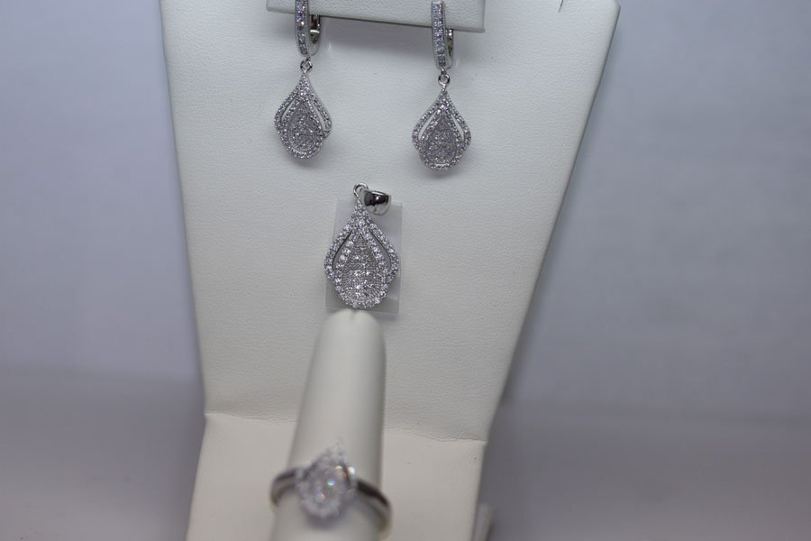11.14 CTW CZ MICRO PAVE SETTING SET .925 STERLING SILVE