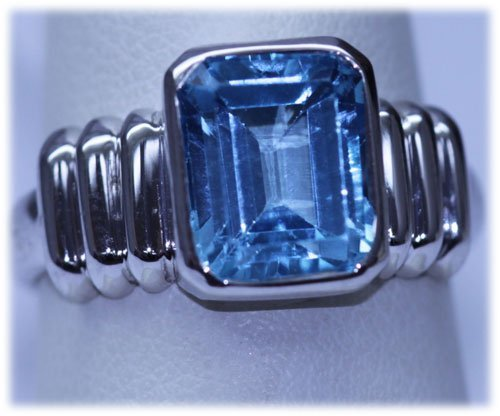 29.50 CTW BLUE TOPAZ RING .925 STERLING SILVER