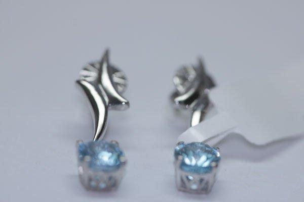 22.65 CTW BLUE TOPAZ EARINGS .925 STERLING SILVER