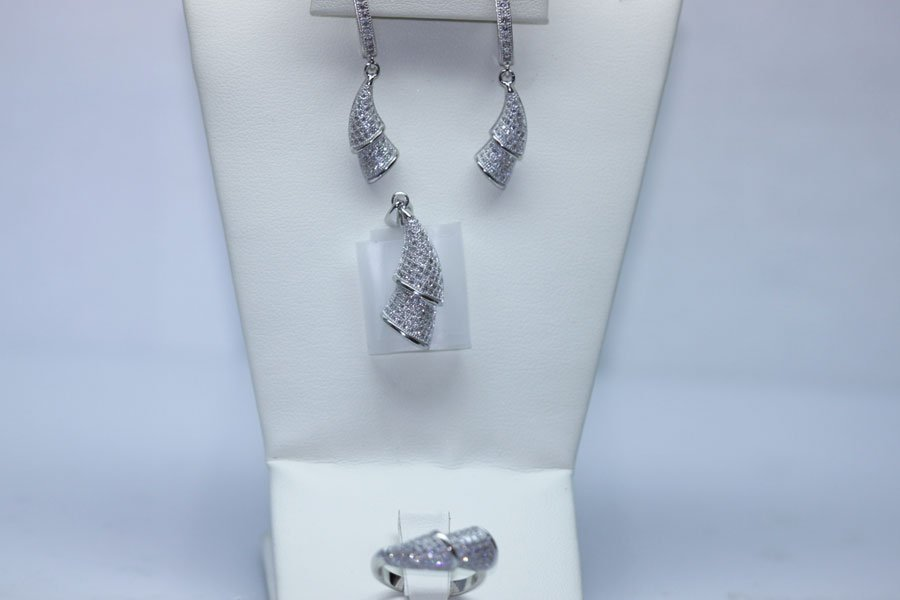 10.77 CTW CZ MICRO PAVE SETTING SET .925 STERLING SILVE