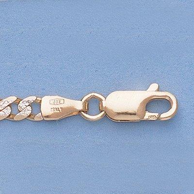 """Genuine 16\"""" 14k Gold-Yellow 3.6mm Rhod Figaro Chain"""""""