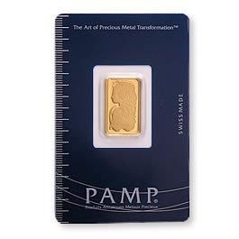 Gold Bars: Pamp Suisse 5 Gram Gold Bar