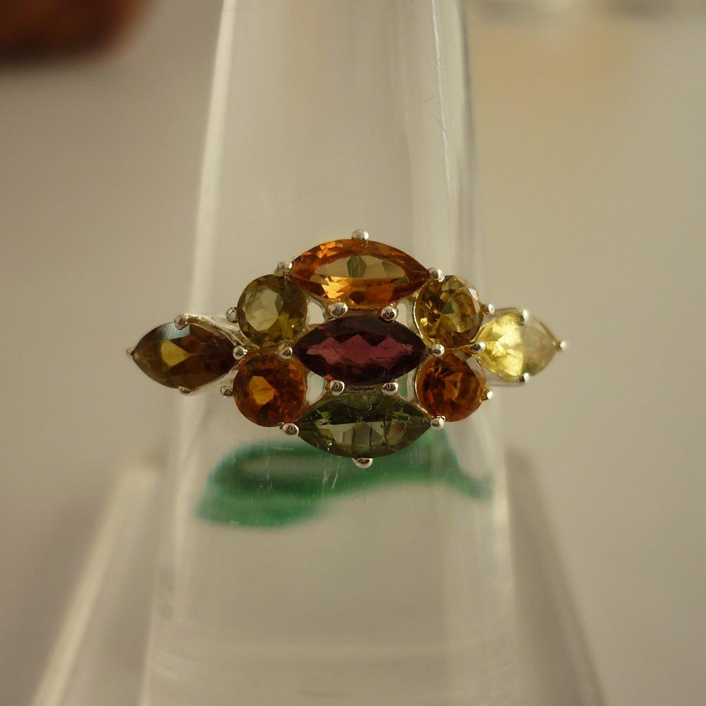 20.67 ctw,SEMIPRECIOUS RING .925 STERLING SILVER