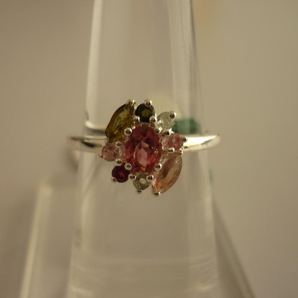 22.20 ctw,SEMIPRECIOUS RING .925 STERLING SILVER