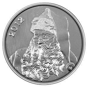 Christmas 2012 Silver Round X-9 Santa