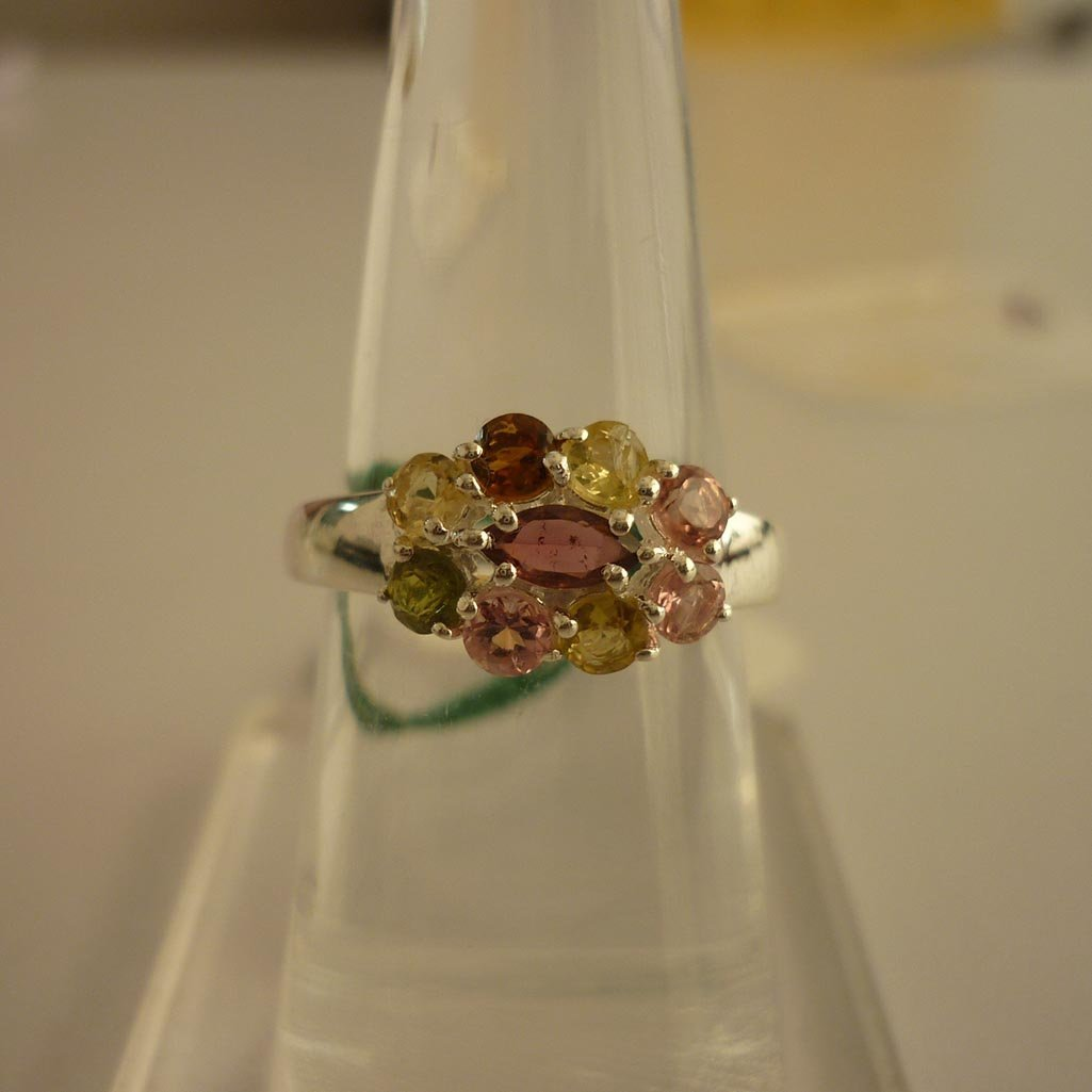 23.80 ctw,SEMIPRECIOUS RING .925 STERLING SILVER