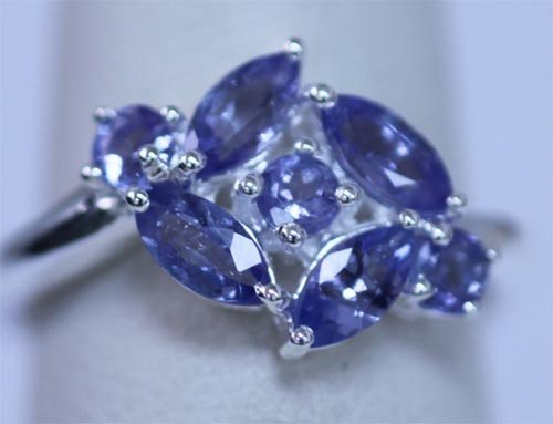 10.50 CTW TANZANITE RING .925 STERLING SILVER