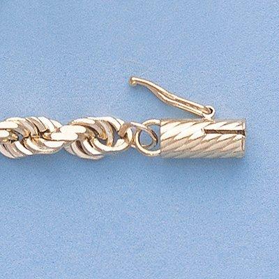 "Genuine 16"" 14k Gold-Yellow 5.0mm D/C Rope Chain 30.3g"