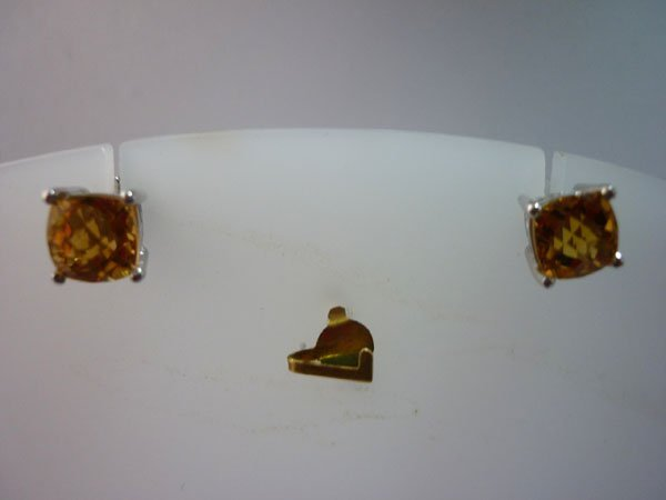 15.00 CTW CITRINE EARRING .925 STERLING SILVER