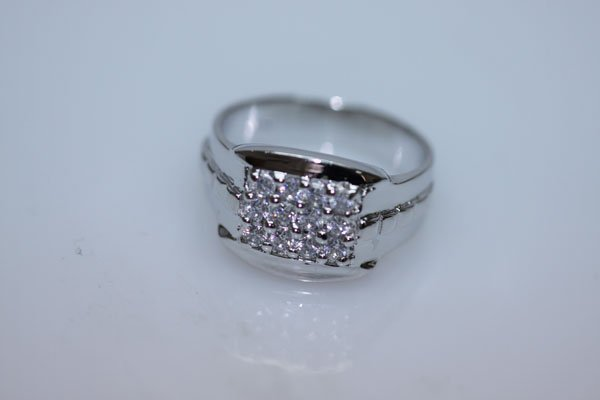 24.7 CTW CZ RING .925 STERLING SILVER