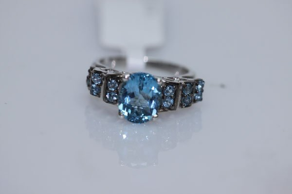 29.84 CTW BLUE TOPAZ RING .925 STERLING SILVER