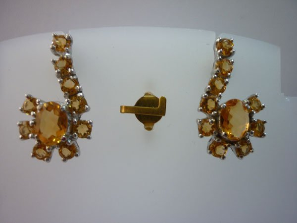 24.75 CTW CITRINE EARRING .925 STERLING SILVER