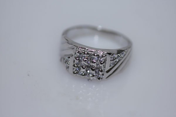 25.4 CTW CZ RING .925 STERLING SILVER