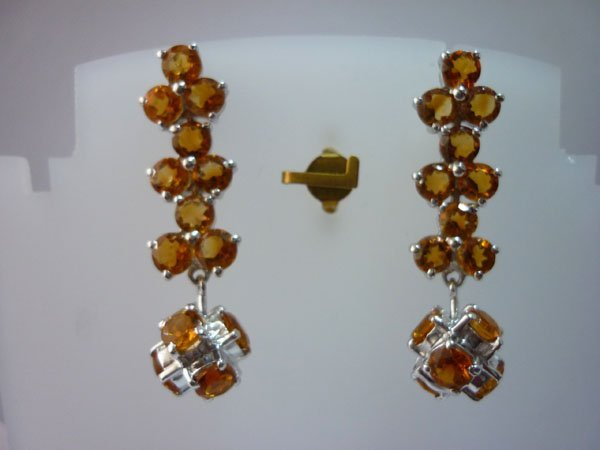 37.50 CTW CITRINE EARRING .925 STERLING SILVER