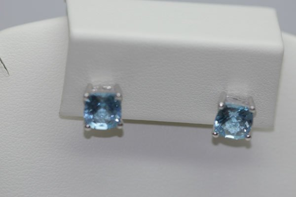 15.25 CTW BLUE TOPAZ EARRING .925 STERLING SILVER