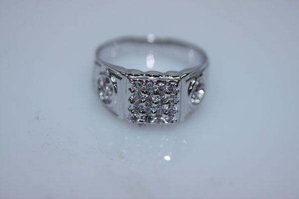 19.6 CTW CZ RING .925 STERLING SILVER