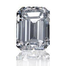 EGL CERT. EMERALD DIAMOND 0.51 CTW D/SI1