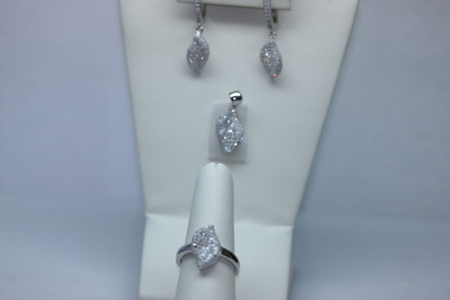 10.32 CTW CZ MICRO PAVE SETTING SET .925 STERLING SILVE
