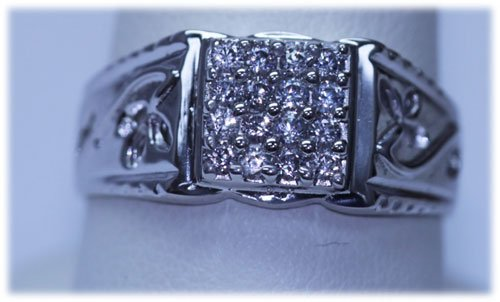19.15 CTW CZ RING .925 STERLING SILVER