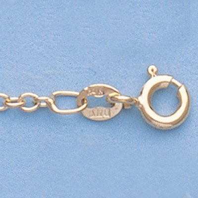 """Genuine 16"""" 14k Gold-Yellow 1.9mm Oval Link Chain"""