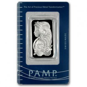 Silver Bars: Pamp Suisse 1 oz Bar .999 fine