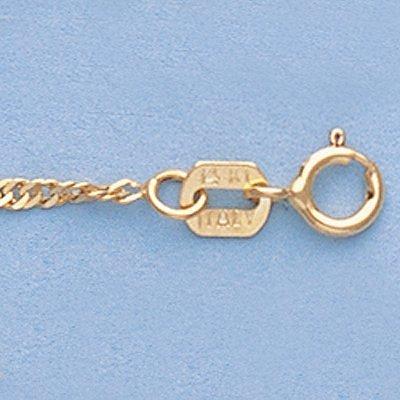 """Genuine 16"""" 14k Singapore Gold-Yellow 1.5mm Chain 1.7g"""